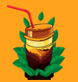 cup-nature-2 vector image