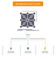 data framework app cluster complex business flow vector image