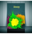 dental brochure flyer magazine cover poster vector image vector image