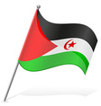 flag of Sahrawi Arab Democratic Republic vector image
