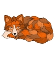 Fox dog or wolf of the waves vector image