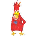Funny Parrot Search vector image vector image