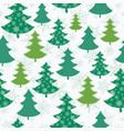 green and white scattered christmas trees vector image vector image