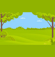 green scenery with trees and bushes forest vector image