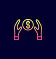 hands protecting dollar icon vector image