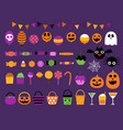 happy halloween sweet candy party set vector image vector image
