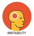 Irritability Thorn Line icon with flat design vector image vector image