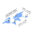 Isometric GPS navigation concept World map vector image