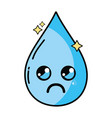 kawaii cute crying water drop vector image