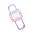 line digital smartwatch technology icon vector image vector image