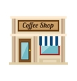 little coffee shop store vector image vector image