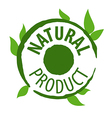 logo printing for natural products vector image vector image