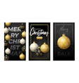 merry christmas vertical banner for stories vector image