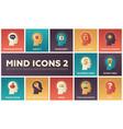 mind icons - modern set of flat design vector image vector image