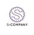 minimalistic outline violet S letter vector image vector image
