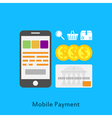 mobile paymets vector image vector image