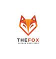 modern abstract geometric fox head logo icon vector image vector image