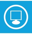 Monitor sign icon vector image vector image