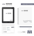 mustache business logo tab app diary pvc employee vector image vector image