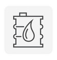 oil container icon design black and outline vector image