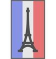 paris symbol on flag france background vector image vector image