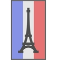Paris symbol on flag of France background vector image vector image