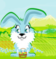 rabbit and a farm in a beautiful nature vector image vector image