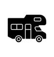 recreational vehicle black glyph icon vector image