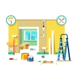 Renovation apartment flat design vector image