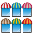 round awning and display window vector image