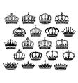 Royal medieval heraldic crowns set vector image vector image