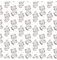 Seamless pattern of cute cat characters Pet in vector image