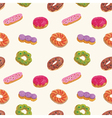 Seamless pattern of Donut vector image vector image