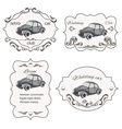 Set of vintage car cards vector image vector image