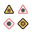 set stop signs coronavirus 2019-ncov disease vector image vector image