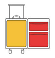 silhouette color section of opened empty suitcase vector image vector image