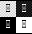 smartphone battery charge icon isolated on black vector image vector image
