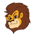Smiling lion head 2 vector image vector image