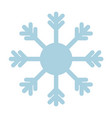snowflake icon blue on white background vector image vector image