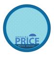 Special price on rainy season event logo vector image vector image