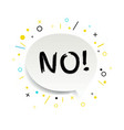 speech bubble no text isolated white background vector image