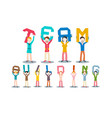 team building concept leadership design isolated vector image