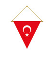 turkish triangle flag hanging vector image vector image