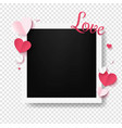 valentines day postcard with red hearts vector image vector image