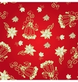 Vintage red floral seamless pattern vector image vector image