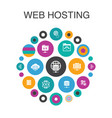 web hosting infographic circle concept smart ui vector image