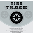 Car tire with wheel background vector image