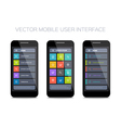 3 mobile user interface designs vector image vector image