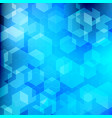abstract technology blue geometric hexagon vector image vector image