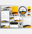 abstract yellow modern brand identity business vector image